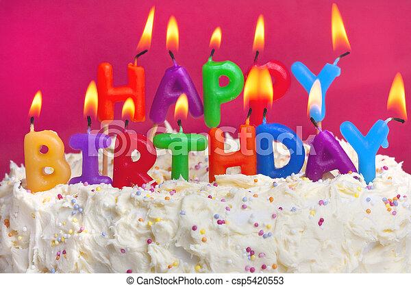 Feliz pastel de cumpleaños - csp5420553