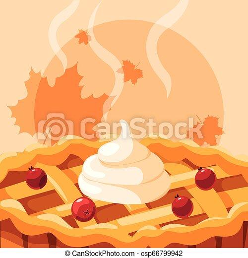 icono de pastel de manzana - csp66799942