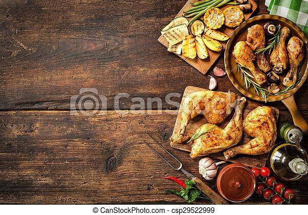 Patas de pollo asadas - csp29522999