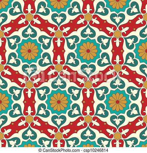 Patrón árabe sin marcas - csp10246814