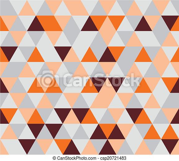 Patrón de triángulo plano del vector - csp20721483