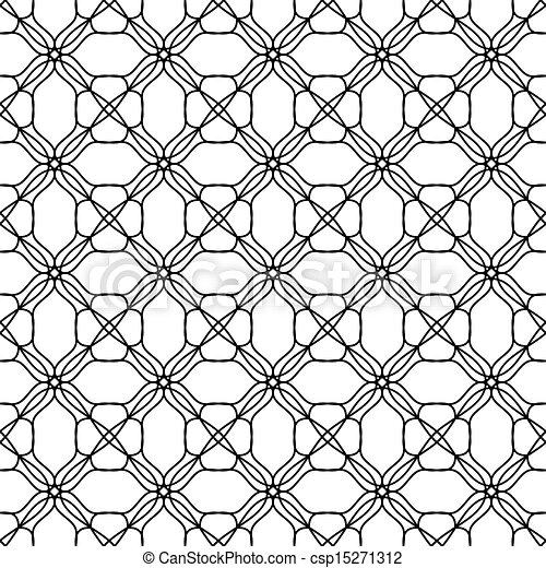 Patrón blanco sin sentido - csp15271312