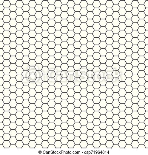 Patrón blanco y negro de hexágono sin costura - csp71964814