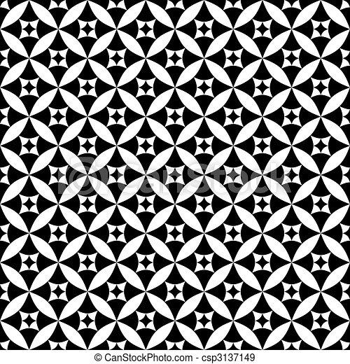 Patrón blanco y negro - csp3137149
