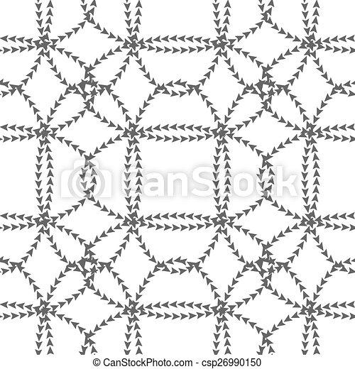 Patrón blanco y negro sin costura - csp26990150