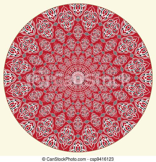 Patrón circular árabe - csp9416123