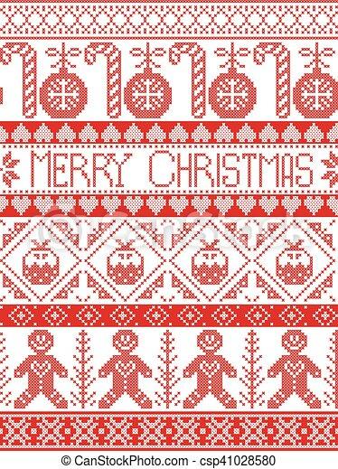 Patrón con pudín de Navidad, pan de jengibre - csp41028580