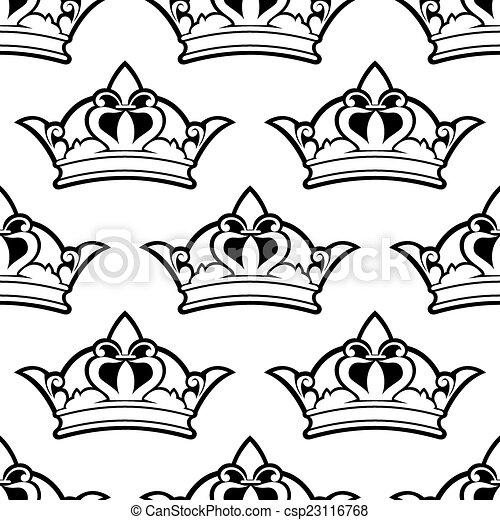 Patrón de corona real sin costura - csp23116768