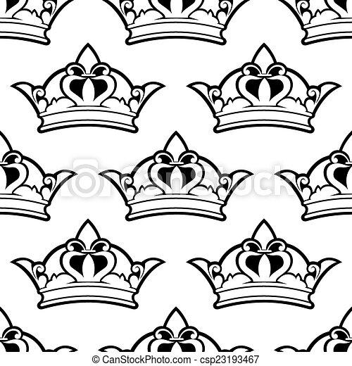 Patrón de corona real sin costura - csp23193467