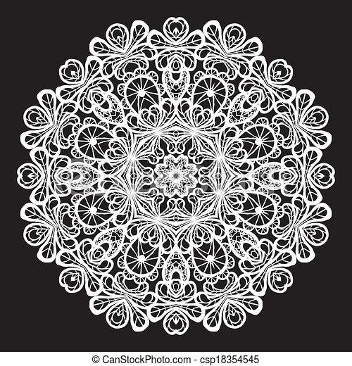Patrón de encaje en círculo abstracto - csp18354545