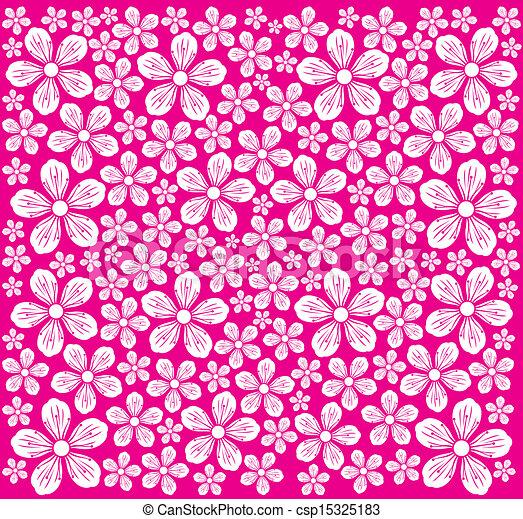 Patrón de flores de cerezo - csp15325183