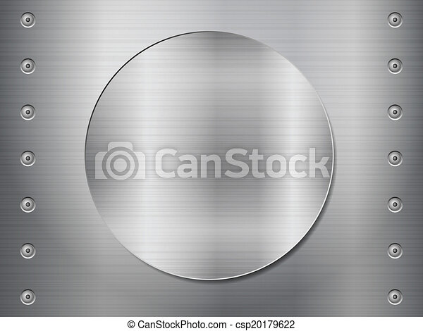 Patrón de fondo de textura metálica. Ilustración de vectores. - csp20179622