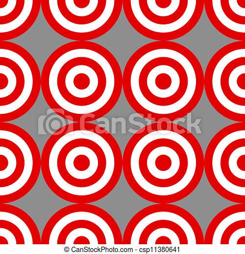 Patrón de objetivos sobre grises - csp11380641
