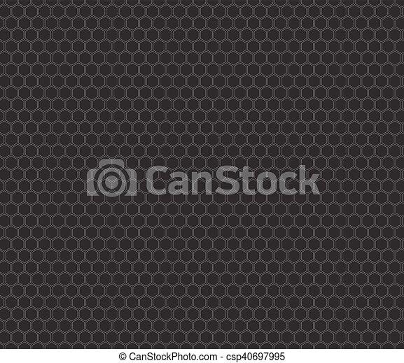 Patrón de panal negro sin costura - csp40697995
