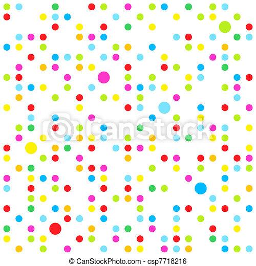 Patrón de puntos sin sentido - csp7718216