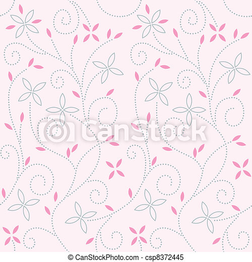 Patrón de remolinos rosado - csp8372445