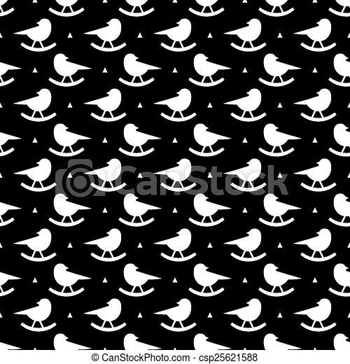 Patrón de rock de aves - csp25621588