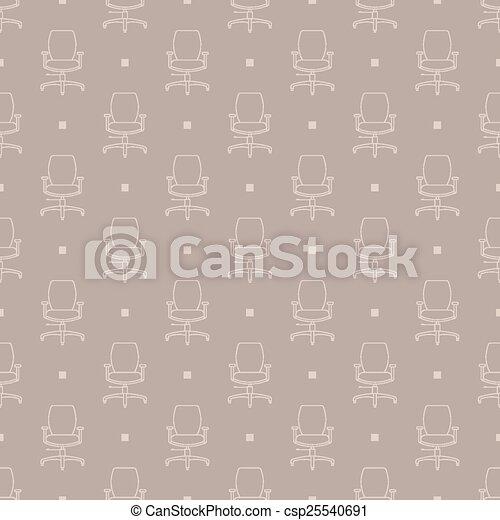 Patrón de sillas - csp25540691
