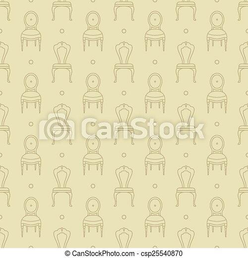 Patrón de sillas - csp25540870
