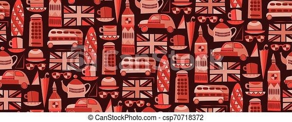 Diseño gráfico de diseño sin costura de Londres - csp70718372