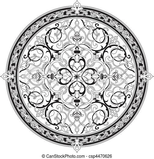 Patrón floral árabe motif floral floral árabe - csp4470626