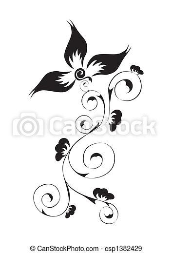Patrón floral - csp1382429