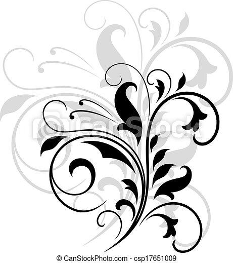 Patrón floral giratorio - csp17651009