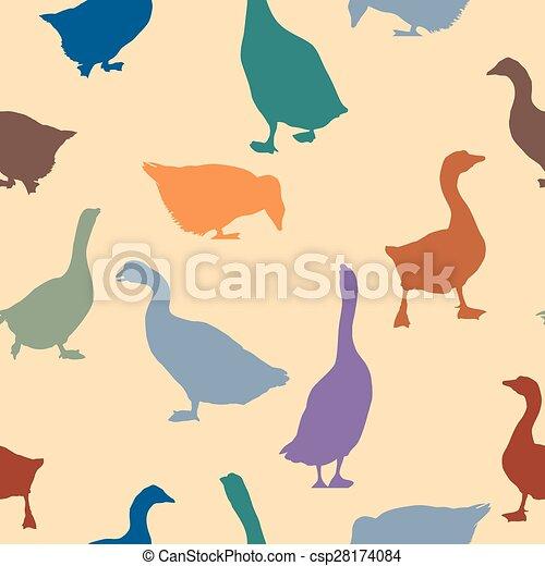 Patrón de gansos sin costura - csp28174084