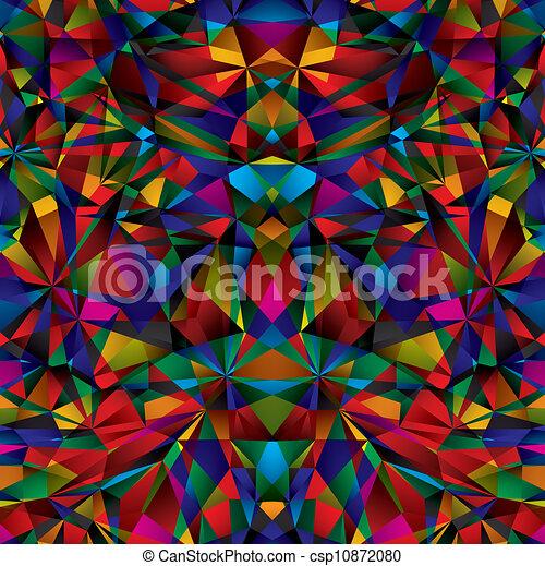 Patrón geométrico de superficie sin costura. - csp10872080