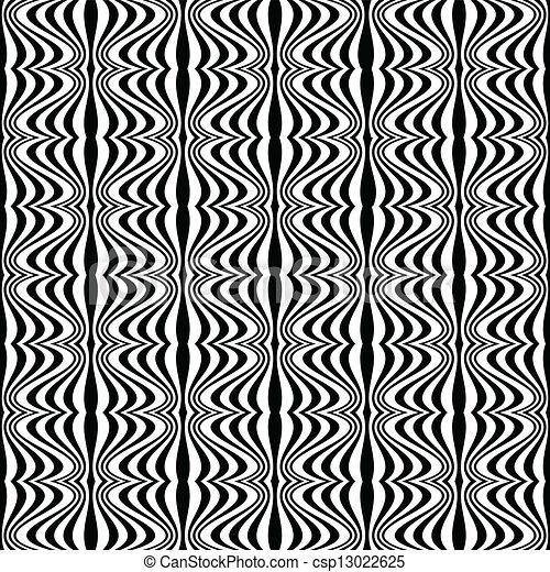 Patrón, ilusión óptica con dibujo geométrico - csp13022625