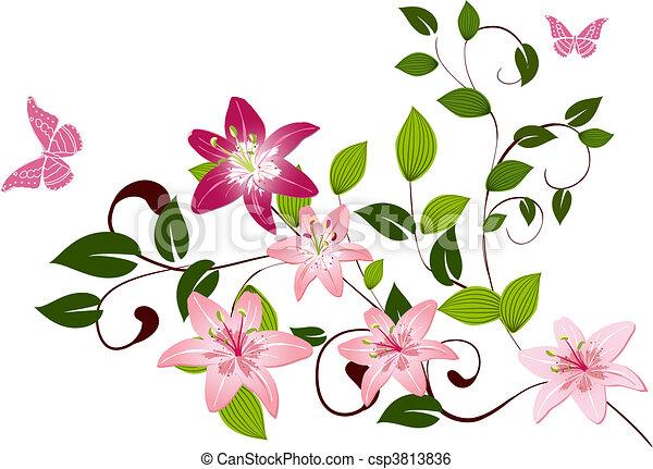 Lirios florales de pattern - csp3813836