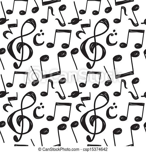 Patrón musical - csp15374642