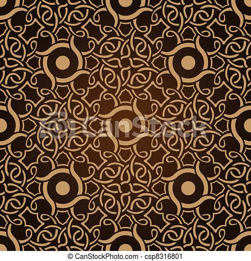 Patrón de papel de pared marrón - csp8316801