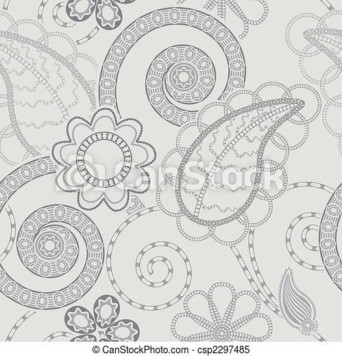 Patrón floral sin sentido - csp2297485