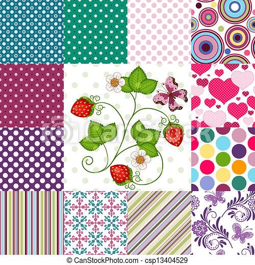 Colección sin manchas de colores - csp13404529