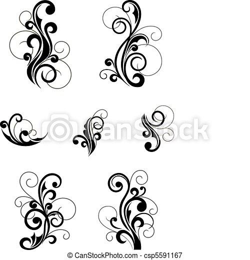 Patrones florales - csp5591167
