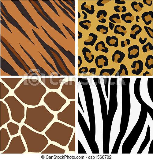Patrones de huellas de animales - csp1566702