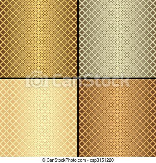 Patrones sin marcas metálicas (vector) - csp3151220