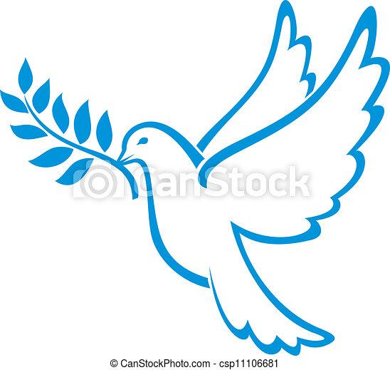Paloma de la paz - csp11106681