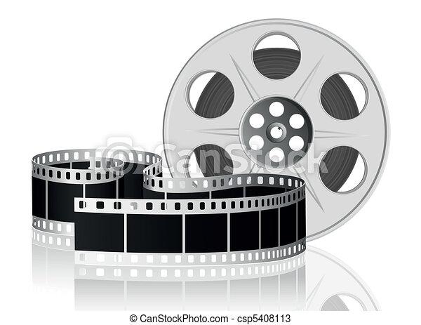 Película retorcida para la película. Ilustración del vector. - csp5408113