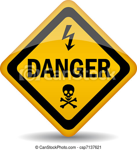 Señal de alerta de peligro - csp7137621