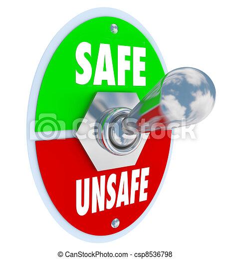 El interruptor de seguridad contra peligro - csp8536798