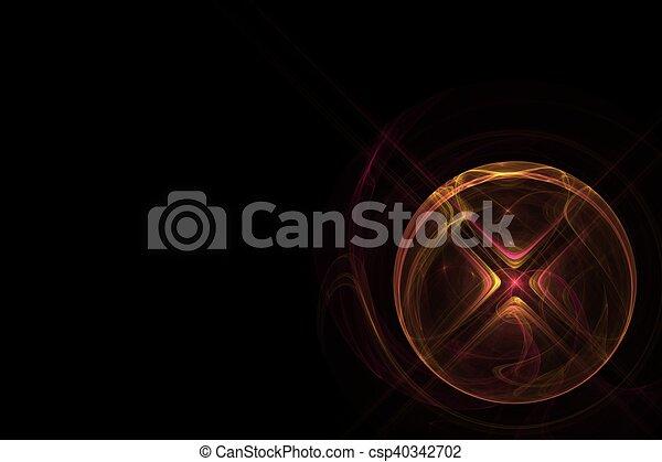 Rojo con bola amarilla con cruz - csp40342702