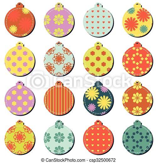 Bolas de decoración navideñas - csp32500672