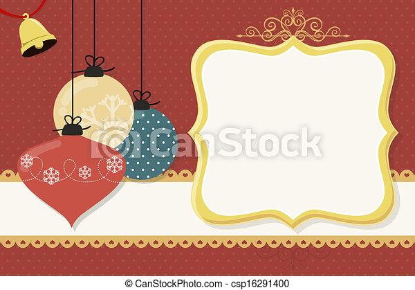 Una tarjeta de Navidad - csp16291400