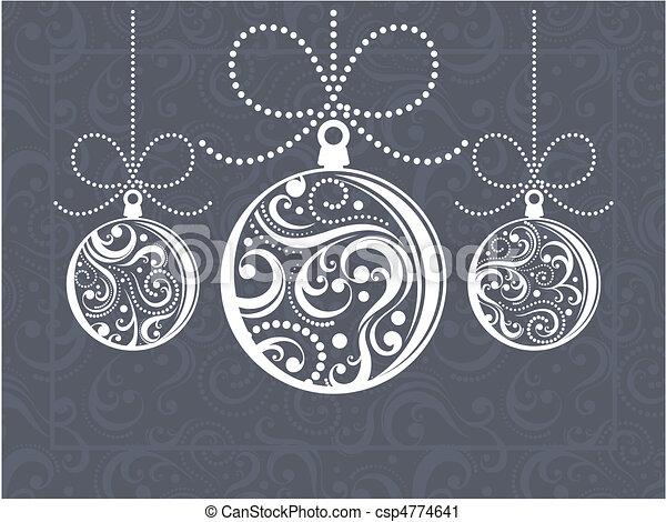 Una tarjeta de felicitación de Navidad - csp4774641