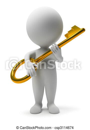 3d personas pequeñas - clave - csp3114674