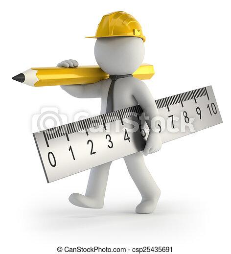 3D personas pequeñas - Constructor - csp25435691