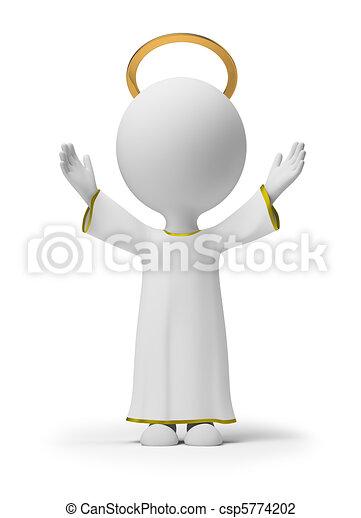 Tres pequeñas personas - Dios - csp5774202