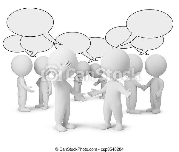 3d gente pequeña - discusión - csp3548284